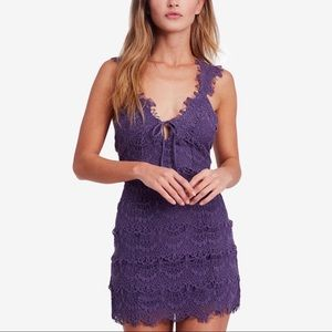 NWT Free People Crochet Lace Bodycon Dress Sz L